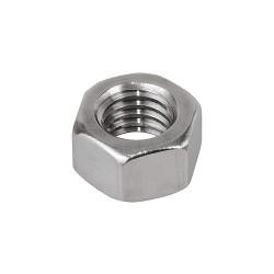 Calbrite - S60200HN00 - 1/4-20 Hex Nut, Plain Finish, 316 Stainless Steel, Right Hand, ASME B18.2.2, EA1