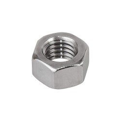 Calbrite - S60300HN00 - 3/8-16 Hex Nut, Plain Finish, 316 Stainless Steel, Right Hand, ASME B18.2.2, EA1