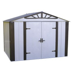 Arrow Storage - DS108 - Outdoor Storage Shed, 77 cu. ft., Sand