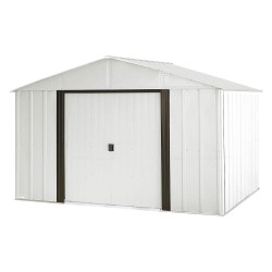 Arrow Storage - AR108 - Outdoor Storage Shed, 74 cu. ft., Eggshell