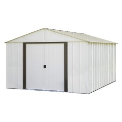 Arrow Storage - AR1012 - Outdoor Storage Shed, 115 cu. ft, Eggshell
