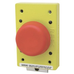 Electro-Matic - 01981-002 - Non-Illuminated Push Button, Type of Operator: 57mm Mushroom Plunger, Size: 57mm, Action: Momentary
