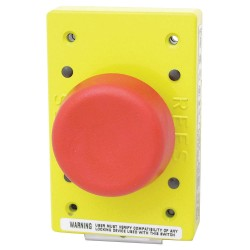 Electro-Matic - 02182-202 - Emergency Stop Push Button, Type of Operator: 57mm Mushroom Plunger, Size: 57mm, Action: Momentary P