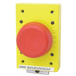 Electro-Matic - 02650-002 - Emergency Stop Push Button, Type of Operator: 57mm Mushroom Plunger, Size: 57mm, Action: Momentary P