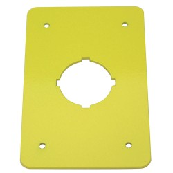 Electro-Matic - 01004-043 - Switch Plate, Yellow, Steel, Size: 110mm