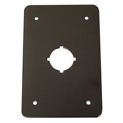 Electro-Matic - 01004-016 - Switch Plate, Black, Steel, Size: 110mm