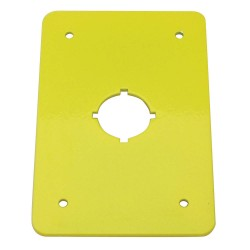 Electro-Matic - 01004-017 - Switch Plate, Yellow, Steel, Size: 110mm