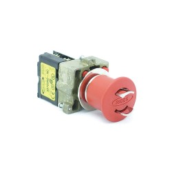Electro-Matic - 22102-102 - Emergency Stop Push Button, Type of Operator: Padlock Mushroom Head, Size: 22mm, Action: Maintained