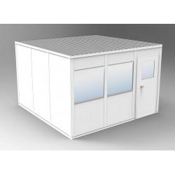 PortaFab - OS1212G - 4-Wall Office, 12x12, Steel, Gray