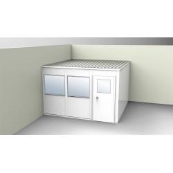 PortaFab - OS1212G-2 - 2-Wall Office, 12x12, Steel, Gray