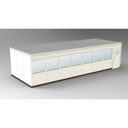PortaFab - OS1232 - 4-Wall Office, 12x32, Steel, Champagne