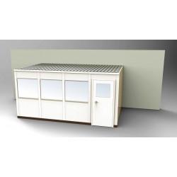 PortaFab - OS1016-3 - 3-Wall Office, 10x16, Steel, Champagne