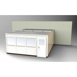 PortaFab - OS1620-3 - 3-Wall Office, 16x20, Steel, Champagne