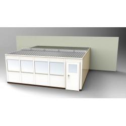 PortaFab - OS2020-3 - 3-Wall Office, 20x20, Steel, Champagne