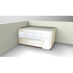 PortaFab - OS1016-2 - 2-Wall Office, 10x16, Steel, Champagne