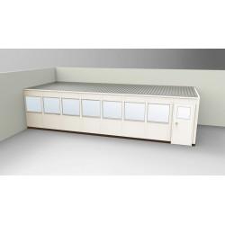PortaFab - OS1232-2 - 2-Wall Office, 12x32, Steel, Champagne