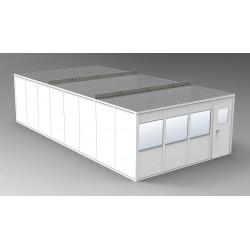 PortaFab - OV1632G - 4-Wall Office, 16x32, Vinyl, Gray