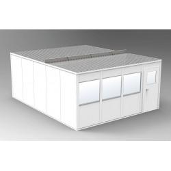 PortaFab - OV2024G - 4-Wall Office, 20x24, Vinyl, Gray