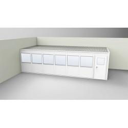 PortaFab - OV1228G-2 - 2-Wall Office, 12x28, Vinyl, Gray