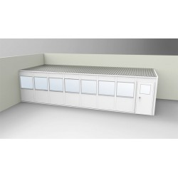 PortaFab - OV1232G-2 - 2-Wall Office, 12x32, Vinyl, Gray