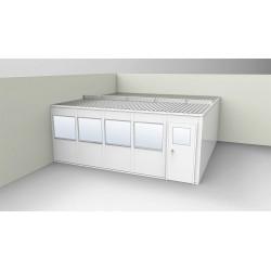 PortaFab - OV2020G-2 - 2-Wall Office, 20x20, Vinyl, Gray