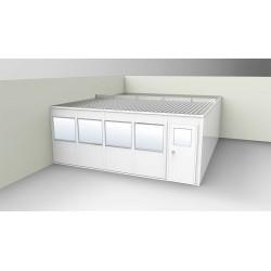PortaFab - OV2024G-2 - 2-Wall Office, 20x24, Vinyl, Gray