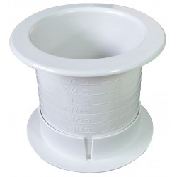 Fastcap - DUALLY 2.5 100PC WH - White Dual Sided Grommet, For Use With Hole up to 2.5 In, Package Quantity 100
