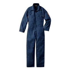 Workrite - 188MH70NB40 0L - Nomex IIIA, Flame-Resistant Coverall, Color Family: Blues, Closure Type: Snap