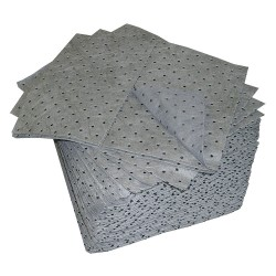 Oil Dri - L70372G - 19 x 15 Heavy Absorbent Pad for Universal, Gray, 100PK