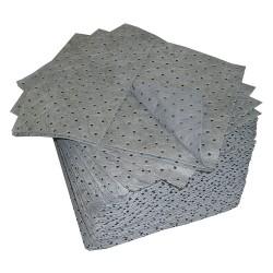 Oil Dri - L70372G - 19 x 15 Heavy Absorbent Pad for Universal, Gray, 100PK