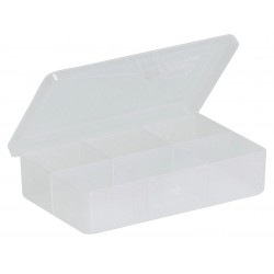 Plano Molding - 3448-40 - Compartment Box, Clear, 1H x 2-7/8L x 4-5/8W, 1EA