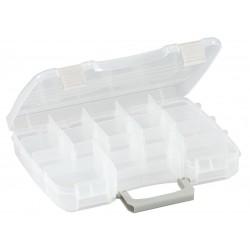Plano Molding - 3860-01 - Compartment Box, Clear, 2-1/4H x 8-1/2L x 11W, 1EA