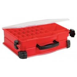 Plano Molding - 5232-01 - Compartment Box, Red, 4-5/8H x 11-3/4L x 14-1/2W, 1EA