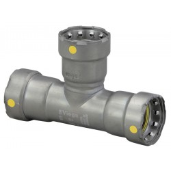 Viega - 25311 - Carbon Steel Tee, Press x Press x Press Connection Type, 1 Tube Size