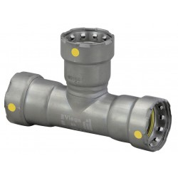 Viega - 25341 - Carbon Steel Tee, Press x Press x Press Connection Type, 1 x 1 x 3/4 Tube Size