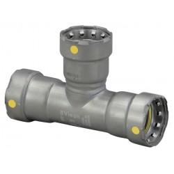 Viega - 25366 - Carbon Steel Tee, Press x Press x Press Connection Type, 1-1/2 x 1-1/2 x 3/4 Tube Size