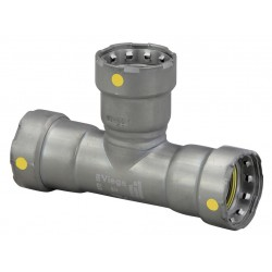 Viega - 25381 - Carbon Steel Tee, Press x Press x Press Connection Type, 2 x 2 x 1/2 Tube Size