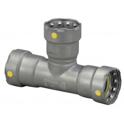 Viega - 25401 - Carbon Steel Tee, Press x Press x Press Connection Type, 2 x 2 x 1-1/2 Tube Size