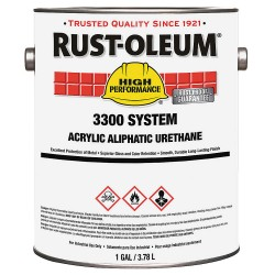 Rust-Oleum - 207957 - Safety Blue Urethane Finish, Gloss Finish, 260-620 sq. ft./gal. Coverage, Size: 1 gal.