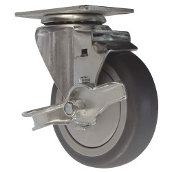 Snap-Loc - SLAC4SB - Caster 4 In., Swivel/Brake, 375 lb
