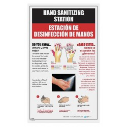 Best Sanitizers - LT10008 - Bilingual Hand Sanitizing Poster