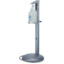 Best Sanitizers - MD10012 - Dispenser E-Z step, foot activated, accommodates one gallon SaniMyst E3 bottle, stainless steel construction, by Best Sanitizers