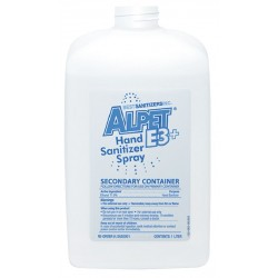 Best Sanitizers - SA20001 - Alpet E3 Plus Empty Container, Secondary, 1 liter, by Best Sanitizer