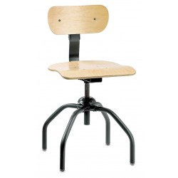 "Bevco Precision - 1260 - Task Chair with 16"" to 21"" Seat Height Range and 300 lb. Weight Capacity, Maple"