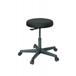 Bevco Precision - 3000-F - Round Stool with 17 to 22 Seat Height Range and 300 lb. Weight Capacity, Black