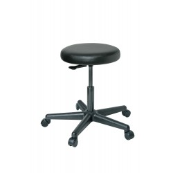 Bevco Precision - 3000-V - Round Stool with 17 to 22 Seat Height Range and 300 lb. Weight Capacity, Black