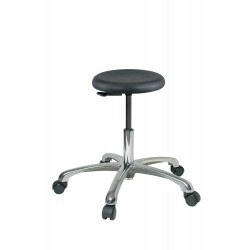 "Bevco Precision - 3050-P - Round Stool with 15-1/2"" to 20-1/2"" Seat Height Range and 300 lb. Weight Capacity, Black"
