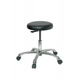 Bevco Precision - 3050-V - Round Stool with 16-1/2 to 21-1/2 Seat Height Range and 300 lb. Weight Capacity, Black