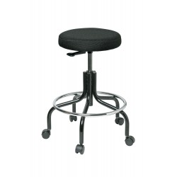 Bevco Precision - 3200-F - Round Stool with 20 to 25 Seat Height Range and 300 lb. Weight Capacity, Black