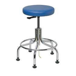 Bevco Precision - 3210E-V - ESD Vinyl ESD Backless Pneumatic Stool with 300 lb. Weight Capacity, Royal Blue